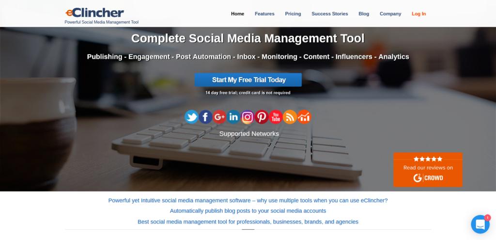 eclincher social media tools