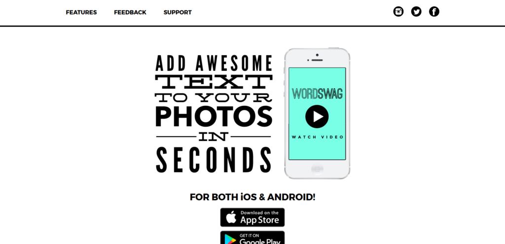 word swag social media tool