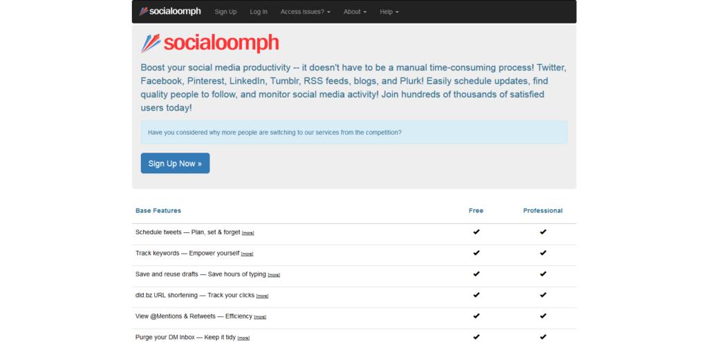 social oomph social media tool